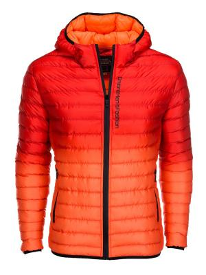 Куртка OMBRE. Цвет: коралловый, оранжевый
