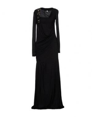 Длинное платье CLASS ROBERTO CAVALLI. Цвет: стальной серый
