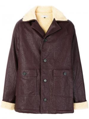 Объемное пальто на пуговицах Gosha Rubchinskiy. Цвет: красный