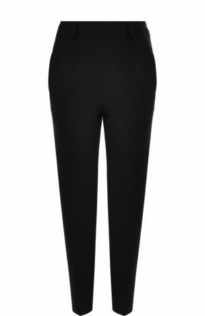 Шерстяные брюки прямого кроя со стрелками Christopher Kane. Цвет: черный