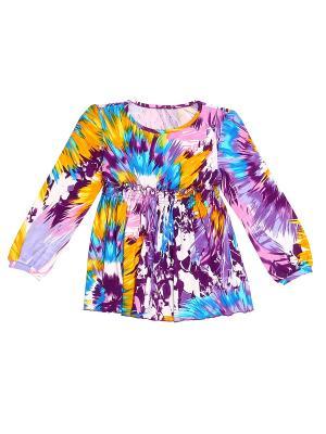 Блуза PETITE MARI. Цвет: желтый, голубой