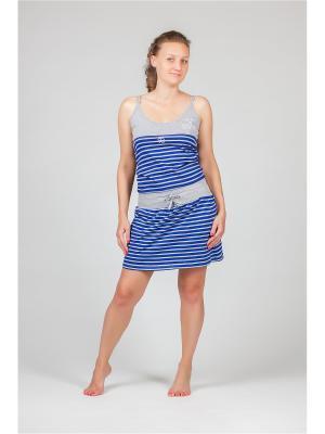 Ночная сорочка Renato Balestra. Цвет: голубой