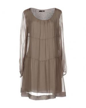 Короткое платье B.YU. Цвет: голубиный серый