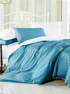 Комплект постельного белья 1,5 сп Fashion синий-белый La Pastel. Цвет: бирюзовый, белый, синий