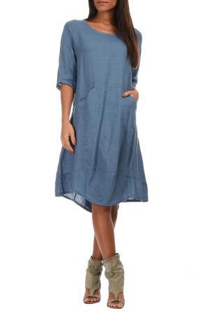 Платье Couleur lin. Цвет: синий