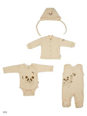 Комплект одежды Эко Лео. Цвет: кремовый