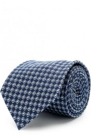 Шелковый галстук Ermenegildo Zegna. Цвет: синий