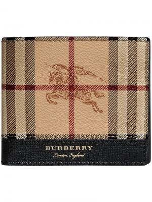 Haymarket Check International bi-fold wallet Burberry. Цвет: коричневый