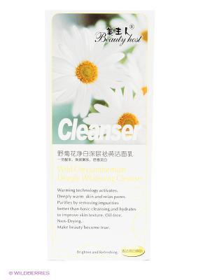 Гель для умывания ТМ BEAUTY HOST Wild Chrysanthemum Deep Whitening Cleanser, 160 мл.. Цвет: светло-зеленый, прозрачный