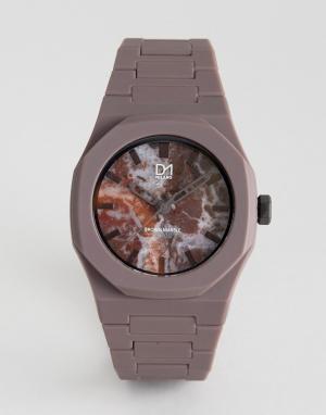 D1 Milano Коричневые часы с мраморной отделкой. Цвет: зеленый