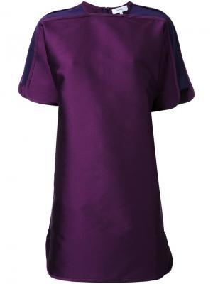 Платье шифт с короткими рукавами Carven. Цвет: розовый и фиолетовый