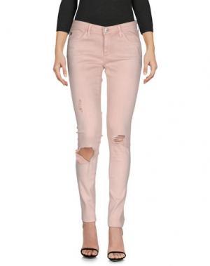 Джинсовые брюки AG ADRIANO GOLDSCHMIED. Цвет: розовый