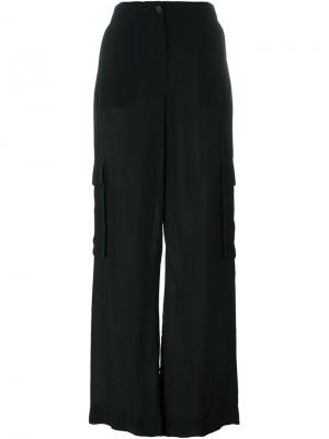Широкие брюки карго Yang Li. Цвет: чёрный