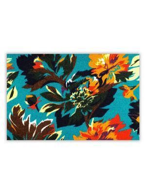 Коврик Ботаника голубой Empire. Цвет: черный, оранжевый, серо-голубой