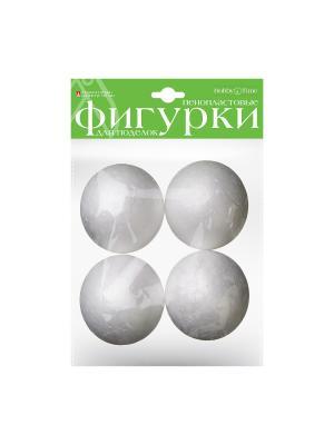 Пенопластовые фигурки шары 60 мм, 4 шт. Альт. Цвет: белый