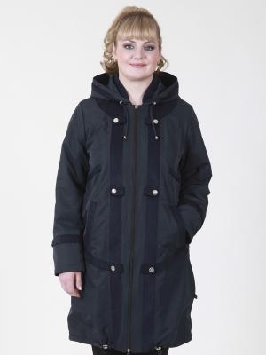 Пальто Джульетта VIKO. Цвет: темно-синий