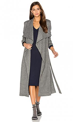 Короткое пальто из джерси OLCAY GULSEN. Цвет: серый