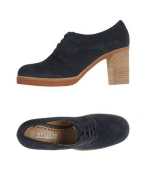 Обувь на шнурках SARTORE. Цвет: темно-синий