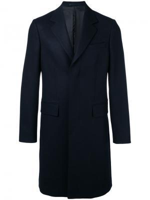 Классическое пальто миди E. Tautz. Цвет: синий