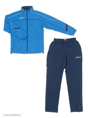 Костюм спортивный (куртка+брюки) SUIT AMERICA ASICS. Цвет: голубой, синий