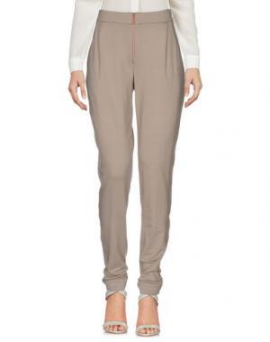Повседневные брюки HOLY GHOST. Цвет: голубиный серый