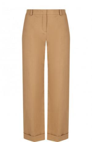 Укороченные хлопковые брюки со стрелками Loro Piana. Цвет: бежевый