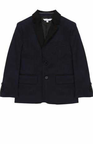 Хлопковый пиджак на двух пуговицах Marc Jacobs. Цвет: синий