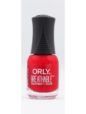 Профессиональный дышащий уход(цвет) за ногтями 905 LOVE MY NAILS ORLY. Цвет: красный