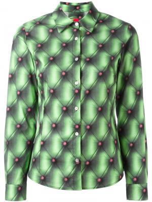 Рубашка с принтом Ultràchic. Цвет: зелёный