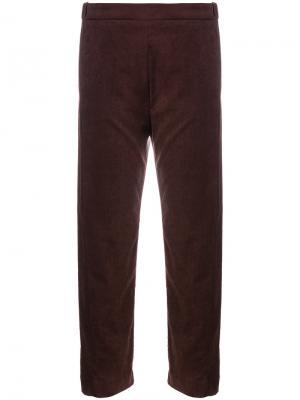 Прямые брюки Ilaria Nistri. Цвет: розовый и фиолетовый