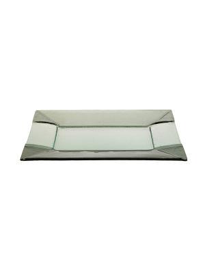 Прямоугольная тарелка Дымчатая Elff Ceramics. Цвет: прозрачный