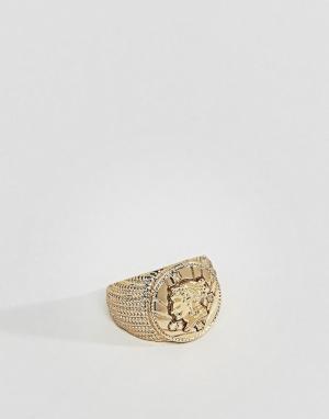 ASOS Золотистое кольцо. Цвет: золотой