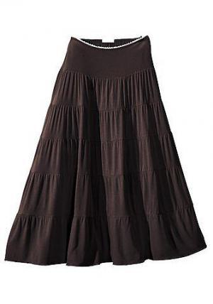 Длинная пляжная юбка BEACH TIME. Цвет: коричневый
