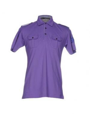 Поло HARRY & SONS. Цвет: фиолетовый
