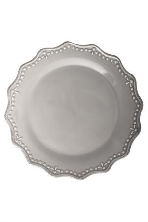 Тарелка плоская 33 см H&H. Цвет: серый