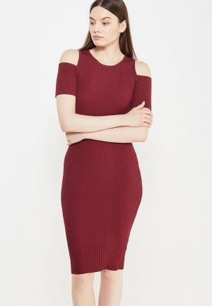 Платье Love Republic. Цвет: бордовый