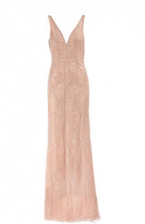 Вечернее платье Basix Black Label. Цвет: розовый