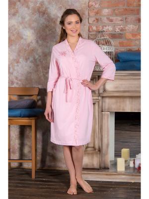 Халаты банные Santi. Цвет: розовый
