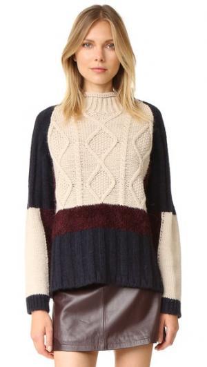Разноцветный свитер Otto d'ame. Цвет: variante unica