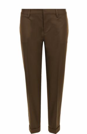 Укороченные брюки из хлопка Dsquared2. Цвет: зеленый