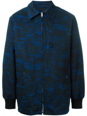 Объемная камуфляжная куртка Alexander Wang. Цвет: синий
