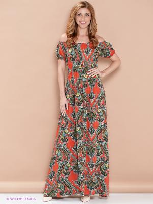 Платье ELENA FEDEL. Цвет: оранжевый