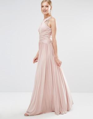 Forever Unique Платье макси Pandora. Цвет: кремовый