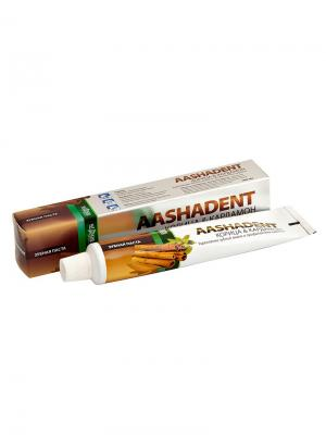 Зубная паста Корица и Кардамон Aasha Herbals. Цвет: кремовый