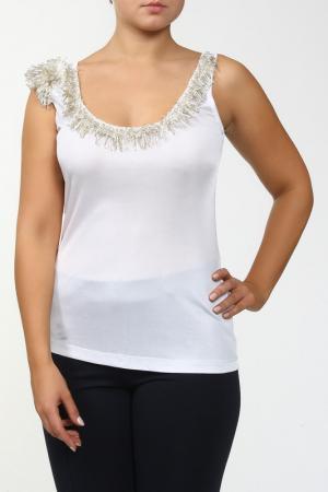 Блуза TOMASO. Цвет: белый