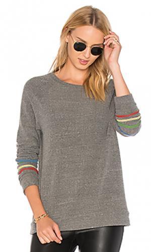 Классический пуловер в полоску percy Michael Lauren. Цвет: серый