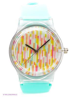 Часы Kawaii Factory. Цвет: бирюзовый, красный, желтый