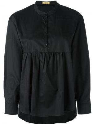 Плиссированная блузка Peter Jensen. Цвет: чёрный