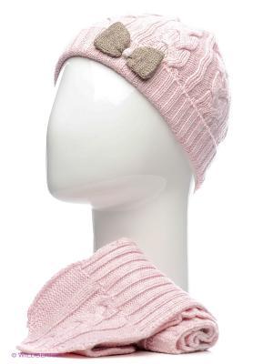 Комплект: шапка, шарф CHICCO. Цвет: розовый