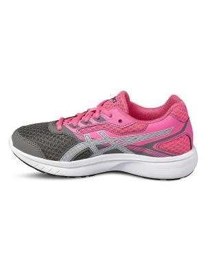Спортивная обувь STORMER GS ASICS. Цвет: серый, белый, розовый